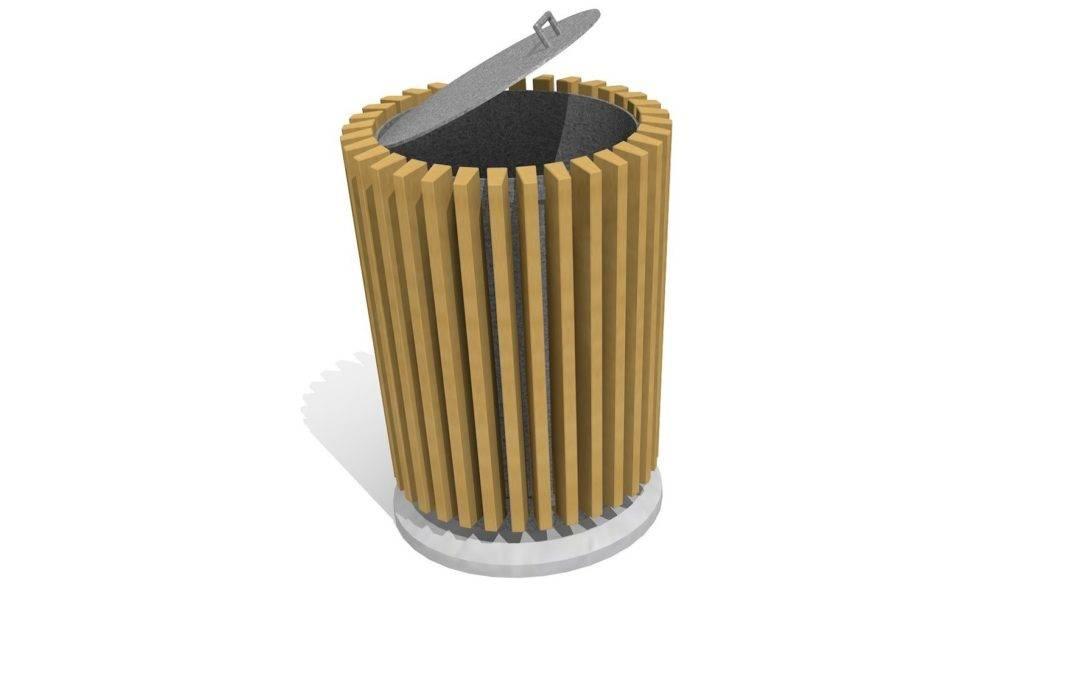 Abfallbehälter mit/ohne Deckel